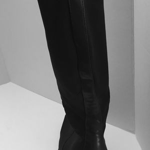 Nine West Shoes - Nine West Black Cloth Heeled Boots 8M